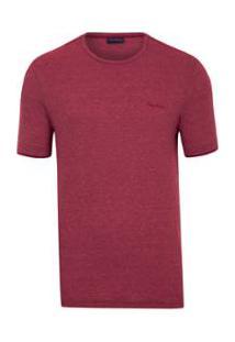 Camiseta Pierre Cardin Malha Flame Moline - Masculino