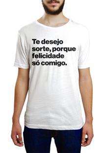 Camiseta Hunter Te Desejo Sorte Branca