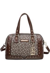 Bolsa Ba㺠Com Bag Charm- Marrom Escuro & Marrom- 30Xfellipe Krein