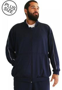 Blusa Plus Size Malha Bigmen Azul Marinho
