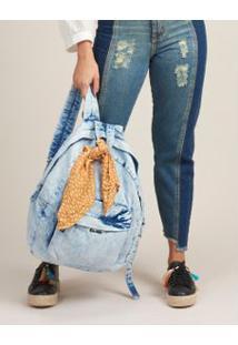 Mochila Jeans Lenço - Jeans U