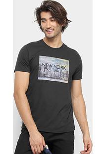 Camiseta Aleatory New York Masculina - Masculino