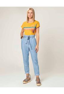Calça Clochard Jeans Feminina Malwee Azul Claro - 34