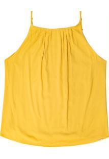 Blusa Decote Reto Com Alça Amarelo