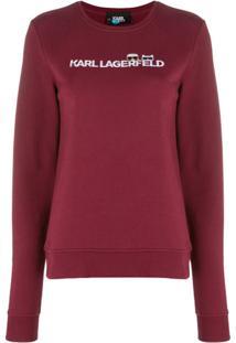 Karl Lagerfeld Camiseta Ikonik Com Logo - Vermelho