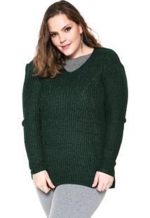 Suéter Wee! Tricot Mullet Plus Size Verde