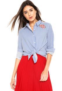 Camisa Chocris Listras Azul/Branca