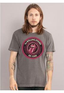 Camiseta Bandup! Premium The Rolling Stones Zip Code Masculina - Masculino-Grafite