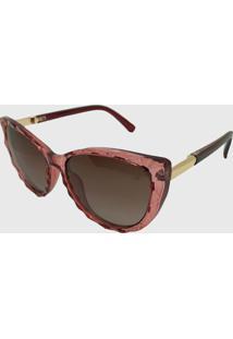 Oculos De Sol Feminino Gatinho Volpz Italia Rosa