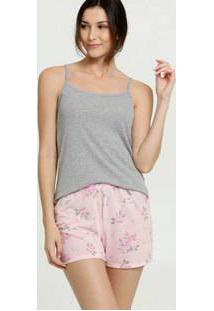 Pijama Feminino Estampa Floral Renda Marisa