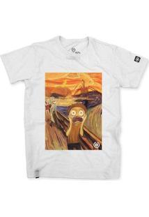 Camiseta Stoned O Grito Morty Masculina - Masculino-Branco