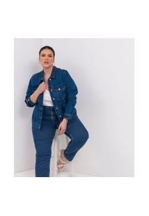 Jaqueta Jeans Ashua Confort Azul Azul