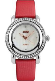 fcd4863115a Relógio Analógico Moderno Vermelho feminino