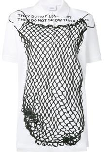 Burberry Camisa Polo Com Estampa Montage - Branco