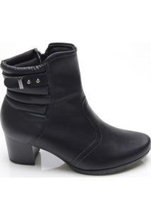 Ankle Boot Feminina Piccadilly Preta