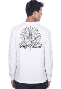 Camiseta Manga Longa Long Island Wanderlust Masculina - Masculino