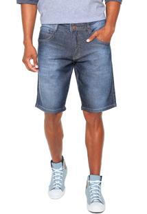 Bermuda Jeans Biotipo Reta Azul