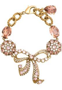 Dolce & Gabbana Pulseira Com Aplicação - Dourado