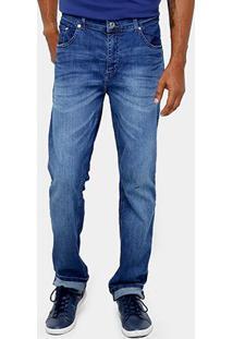 Calça Jeans Lacoste Slim Fit Lavado Masculina - Masculino-Jeans