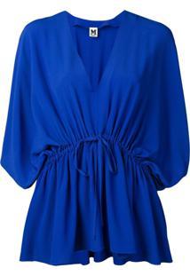 M Missoni Blusa Com Cordão De Ajuste - Azul