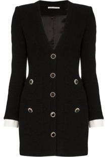 Alessandra Rich Blazer-Style Mini Dress - Preto