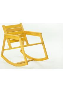 Cadeira De Balanço - Poltrona Para Varanda Janis Stain Amarelo - 60X92X80 Cm