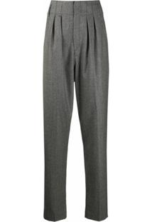 Isabel Marant Calça Pantalona Cintura Alta - Cinza