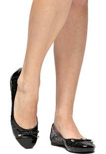 Sapatilha Shoestock Redondo Laser - Feminino-Preto