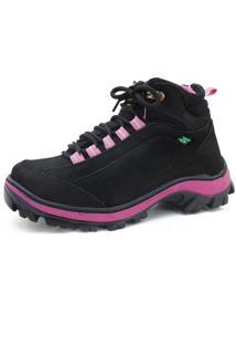 Coturno Adventure Trilha Em Couro Atron Shoes Preta