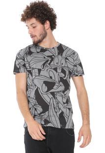 Camiseta Sideway Looney Tunes Pernalonga Cinza
