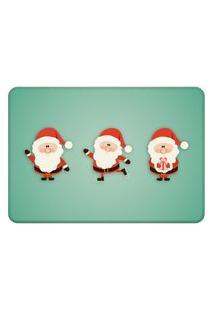 Tapete Sala Love Decor Papai Noel Cute Verde