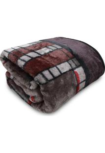 Cobertor Casal Jolitex Tradicional Invernes Cinza