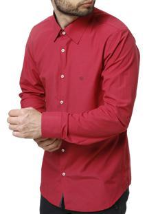 Camisa Manga Longa Enzo Vitorino Rosa Pink