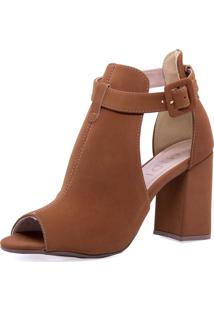Sandália Ankle Boot Midi Calçados Caramelo