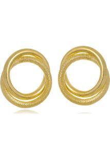 Brinco Le Diamond Aro Dourado - Tricae