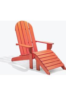 Cadeira Adirondack - Com Peseira Stain Vermelho