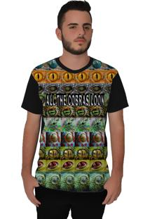 Camiseta Ramavi All The Cobras Look Manga Curta Preto