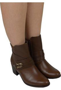 Ankle Boot Feminina Ramarim Marrom