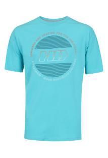 Camiseta Hd Estampada Hardline - Masculina - Azul Claro