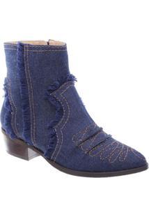 Bota Jeans Com Pespontos- Azul Escuroschutz