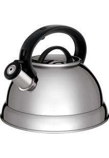 Chaleira Boiler- Inox & Preta- 2,8L- Euro Homewaeuro Homeware