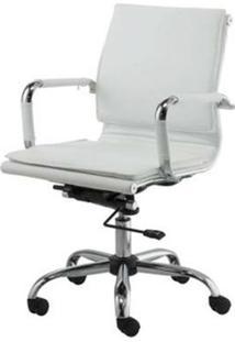 Cadeira Escritorio Eames Top Baixa Branca Base Cromada - 41003 - Sun House