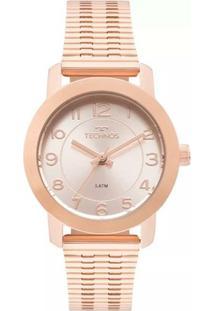 Relógio Feminino Technos 2035Mlt/4J Aço - Feminino-Bronze