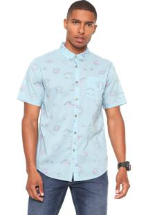 Camisa Billabong Reta Sundays Mini Azul