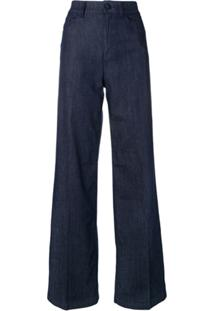 6674575b3 ... Emporio Armani Calça Jeans Pantalona - Azul