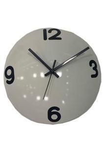Relógio De Parede Decorativo Espelhado Cor Branco 28X28X10Cm