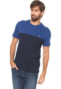 dce4ebf7d2d ... Camiseta Lacoste Reta Fit Azul