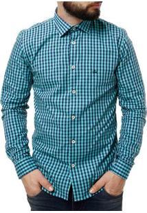 Camisa Manga Longa Masculino Verde