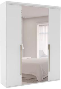 Guarda-Roupa Casal Com Espelho Originale 4 Pt 3 Gv Branco
