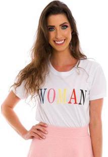 Blusa Bordada Woman Jogabe Feminina - Feminino-Branco
